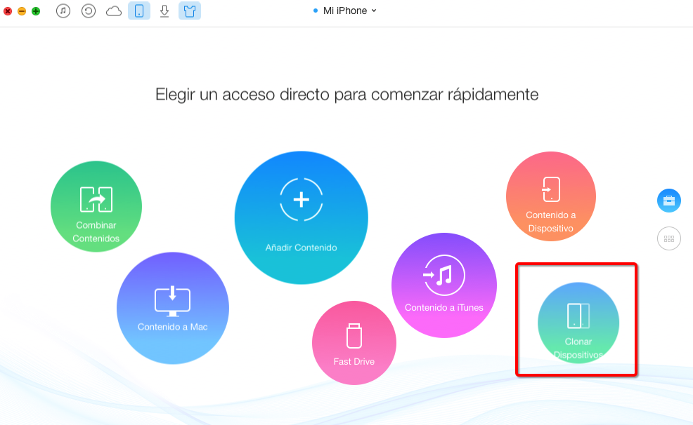 Sincronizar Calendario de iPhone con AnyTrans – paso 3