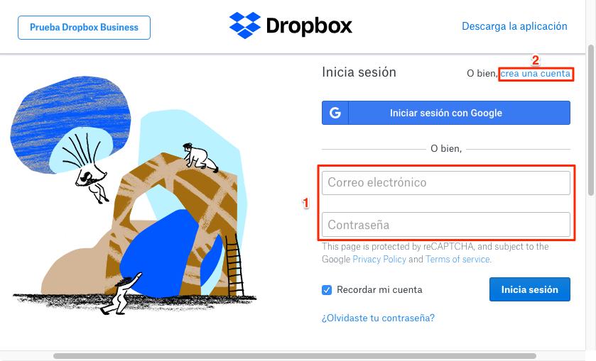 Cómo subir fotos a Dropbox - Paso 2