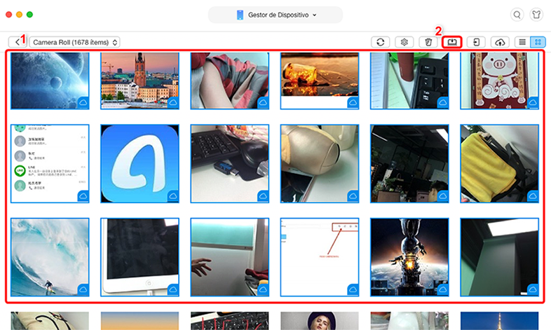 Pasar los fotos a Mac