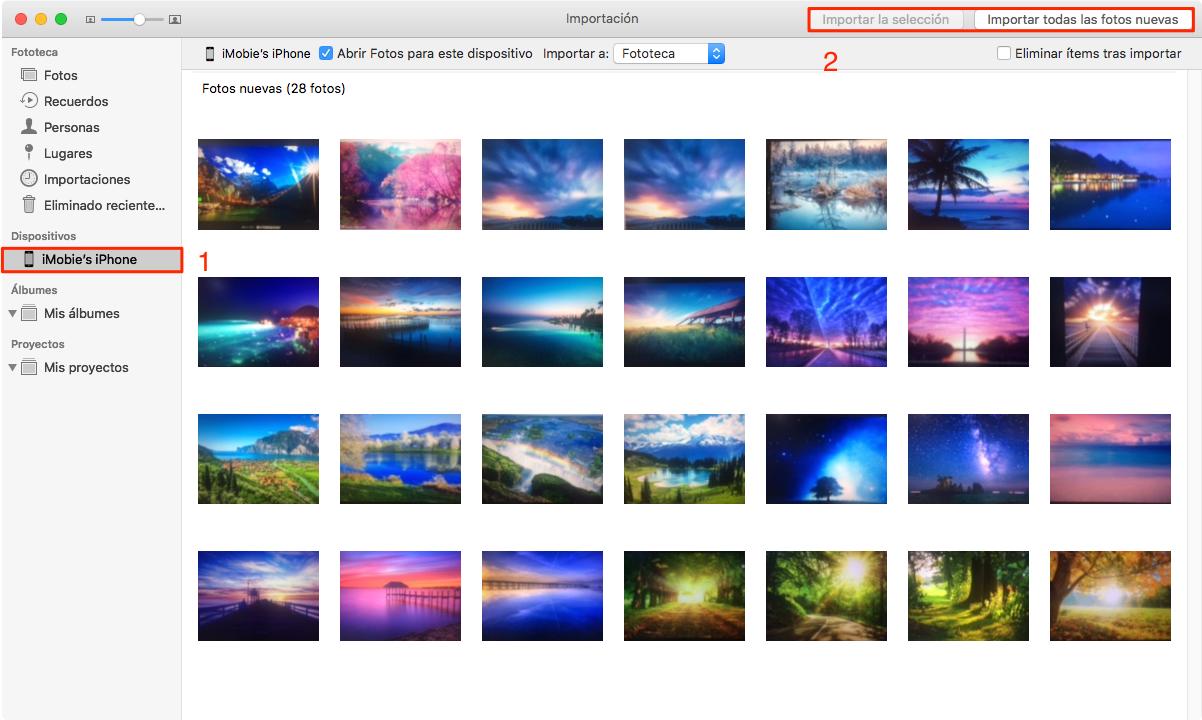 Cómo pasar fotos de iPhone a Mac con Fotos