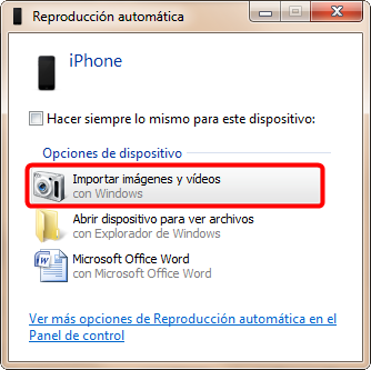 Reproducción Automática de Windows