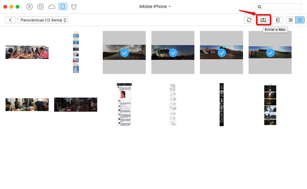 Cómo Transferir Fotos de iPhone al PC – Paso 2