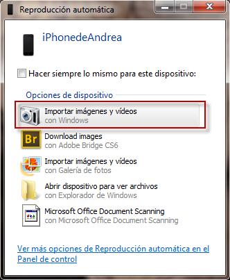 Cómo transferir fotos desde el iPod al ordenador