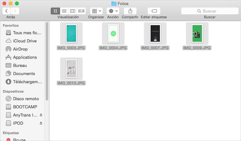 Cómo transferir fotos desde el iPod al Mac - Paso 1