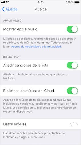 Pasar música del iPod al PC/Mac por iCloud