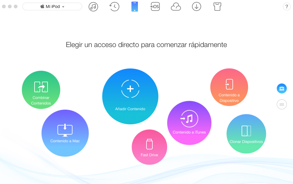 Copiar música del iPod al Mac con AnyTrans – Paso 1