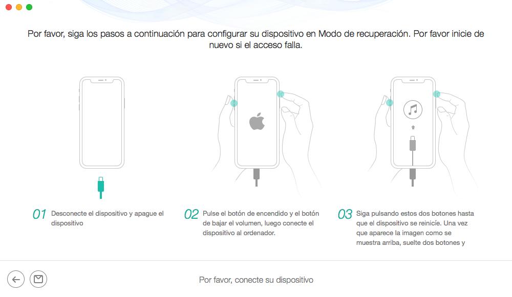 Repara iPhone sin pérdida de datos - Paso 3