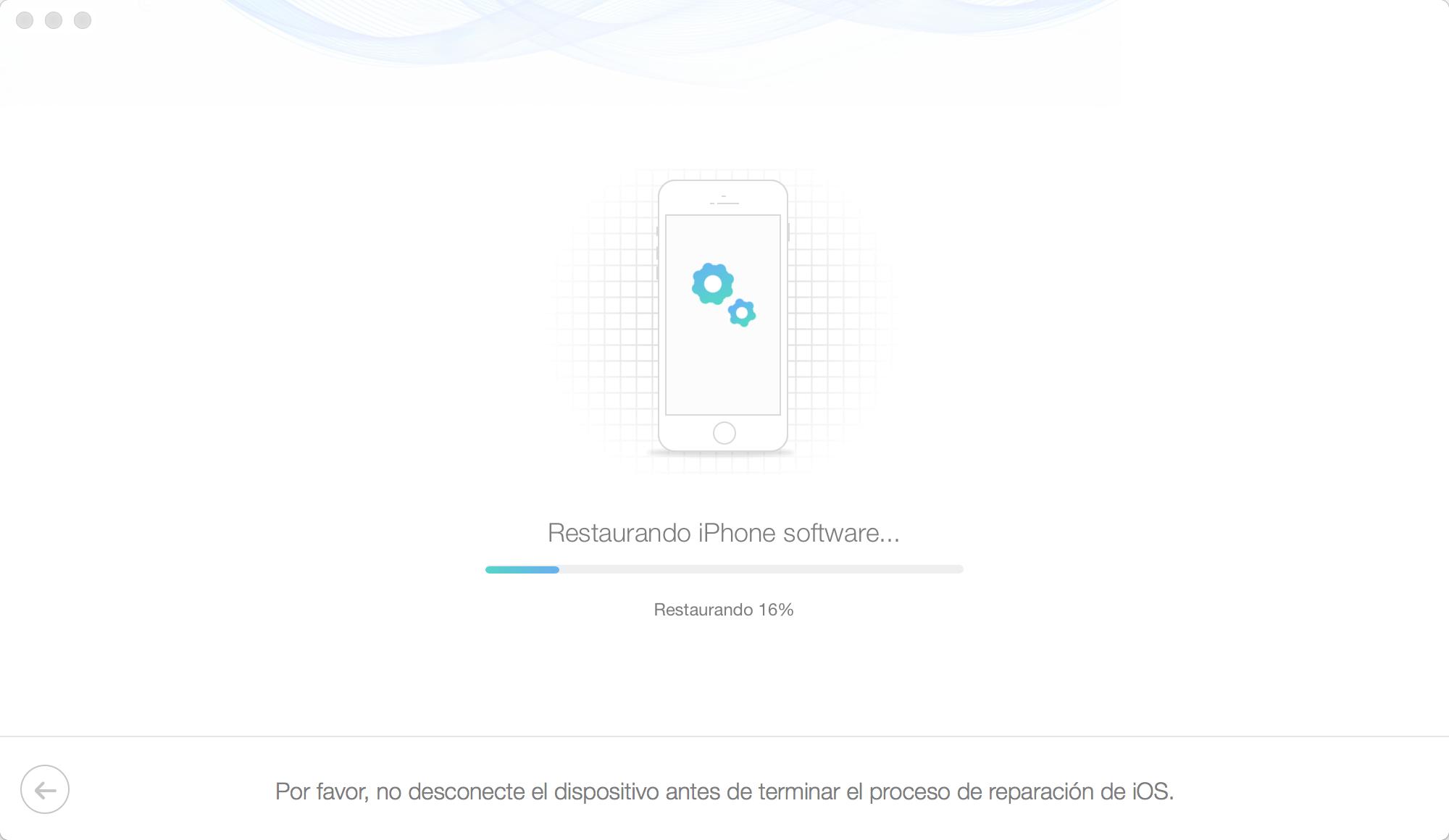 Reparar iPhone en modo normal - Paso4