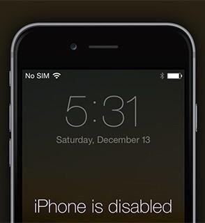 iPhone está desactivado conectarse a iTunes