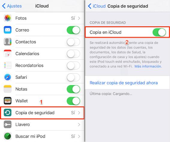 Cómo hacer una copia de seguridad en iCloud automática