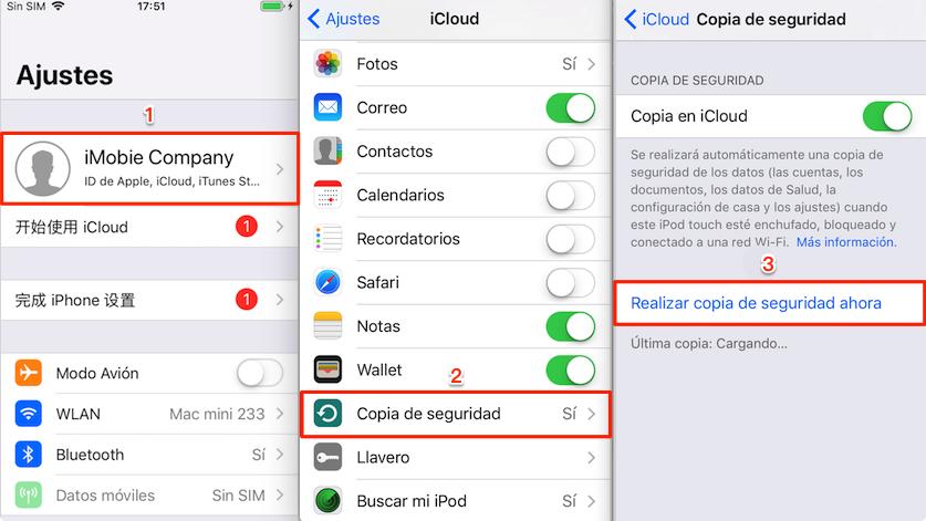 Cómo hacer una copia de seguridad en iCloud manualmente