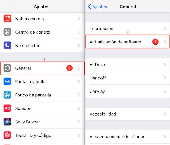 Cómo actualizar a iOS 12