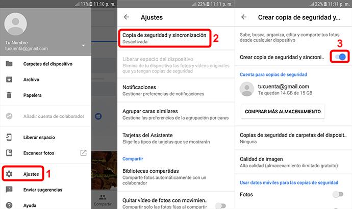 Cómo pasar datos de Samsung a Xiaomi con Google -1