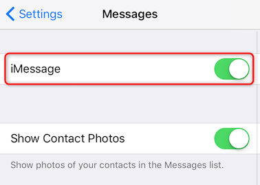 Desactiva iMessage en tu iPhone