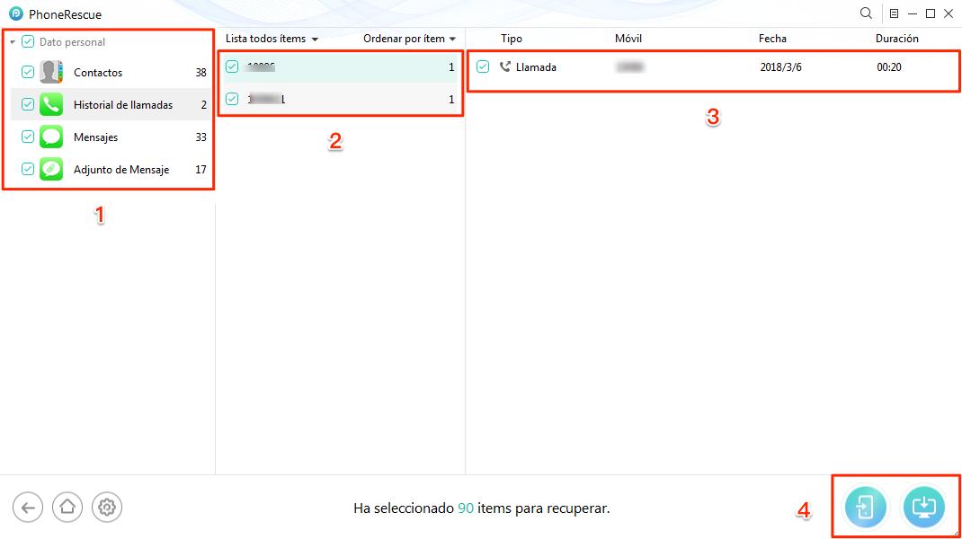 Cómo recuperar datos perdidos en iPhone sin copia de seguridad - Paso 3