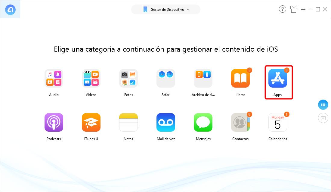 Selecciona Apps