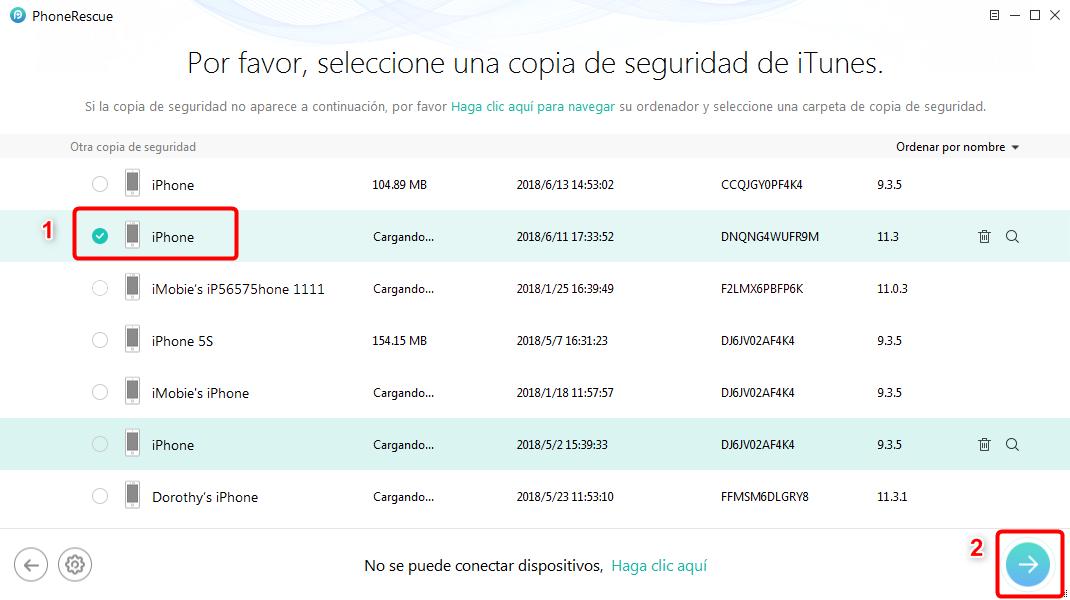 Cómo acceder las copias de seguridad de iTunes - Paso 3