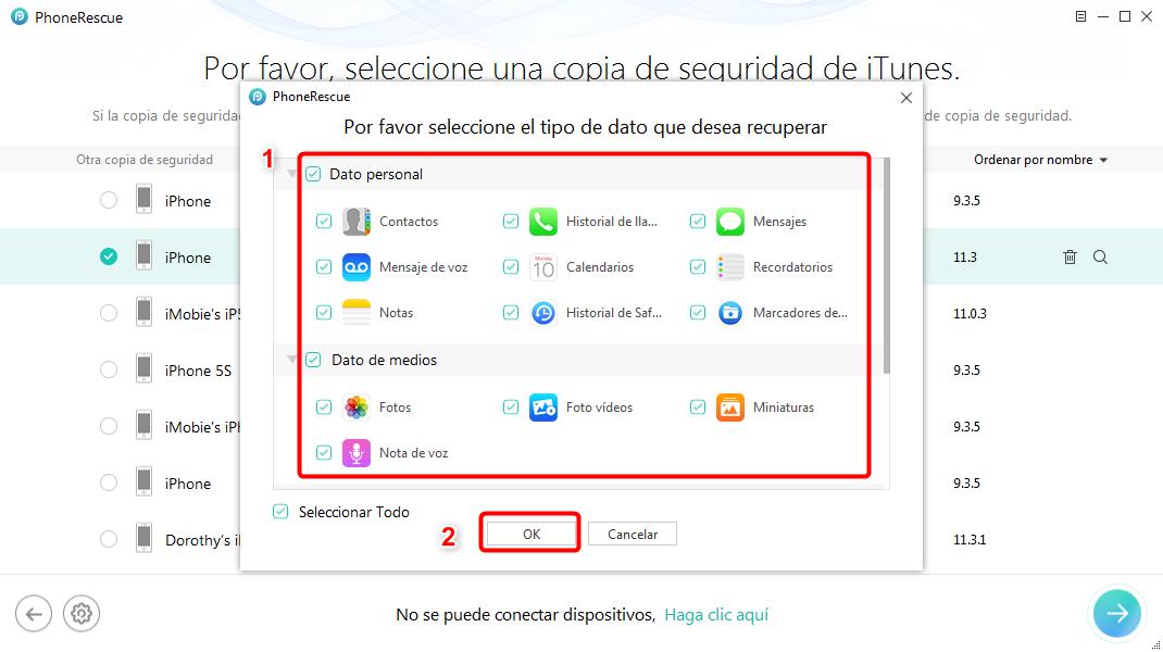 Cómo acceder las copias de seguridad de iTunes - Paso 4
