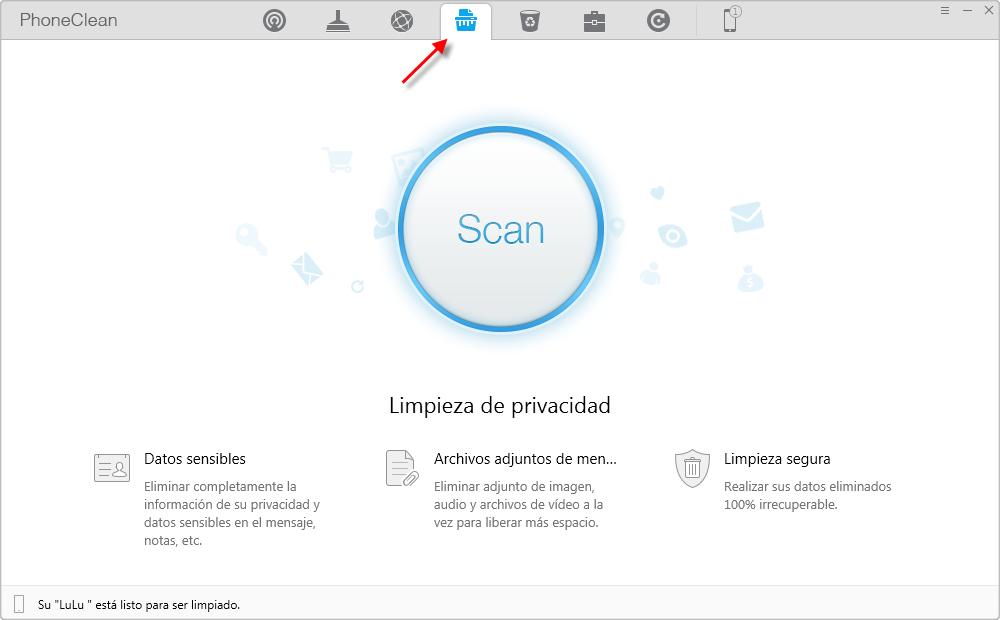 Cómo borrar todos los mensajes en el iPhone con PhoneClean