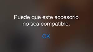 Puede que este accesorio no sea compatible