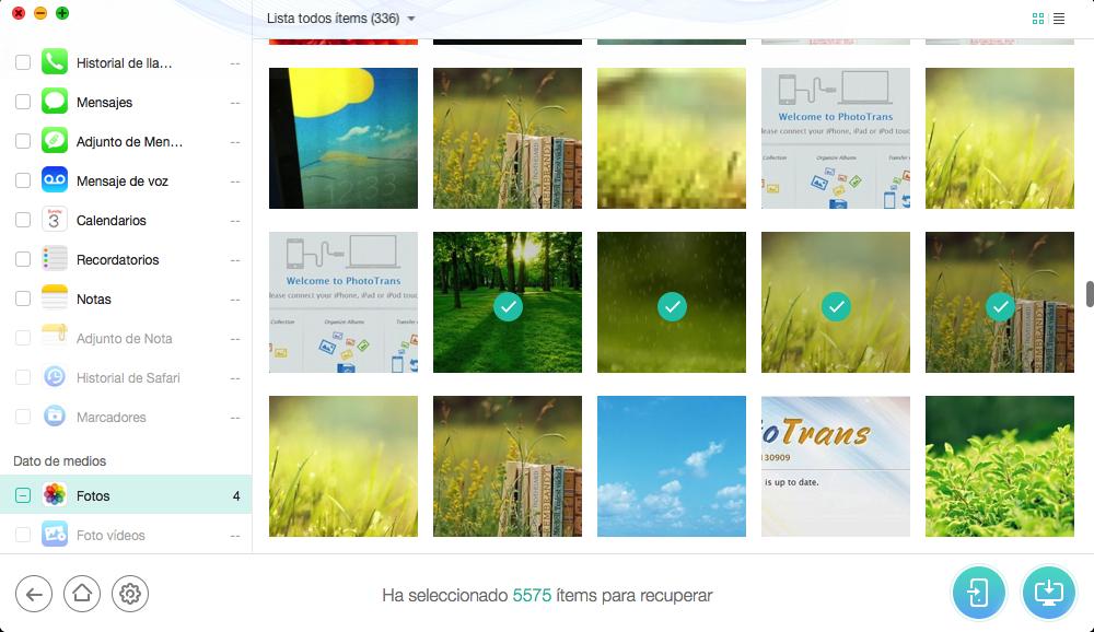Cómo extraer las fotos de copia de seguridad de iTunes con PhoneRescue – Paso 3