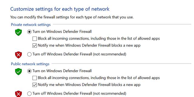 Deshabilitar el Firewall en Windows
