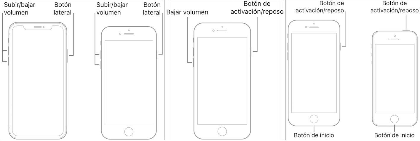 Forzando el reinicio del iPhone