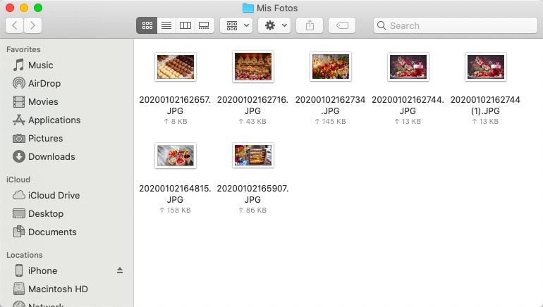 Ya las fotos están en Mac
