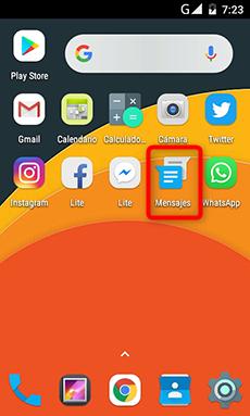 Haz clic en Mensajes