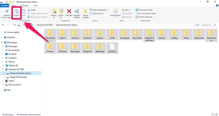Hacer copia de seguridad de USB