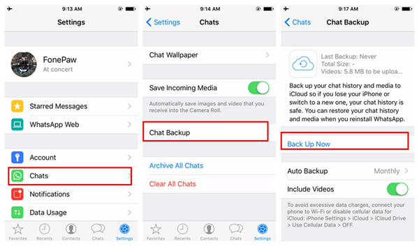 Hacer copia seguridad WhatsApp iPhone en WhatsApp