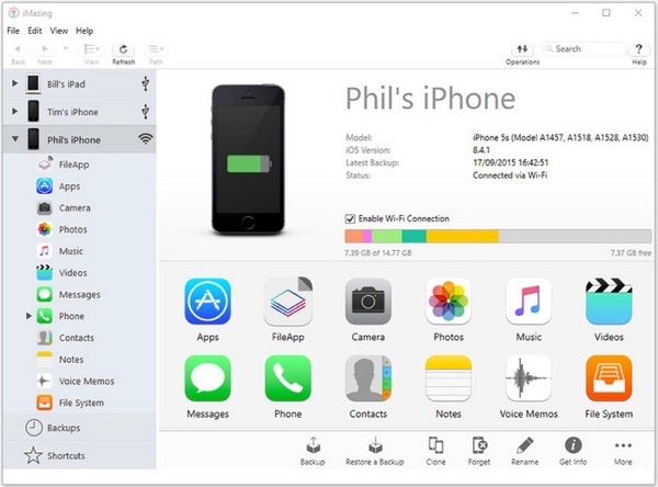 Programa para transferir fotos iPhone a pc - iMazing