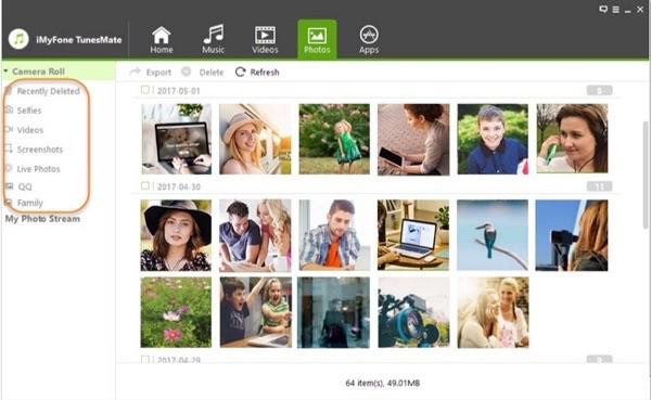 Programa para transferir fotos iPhone a pc - iMyFone TunesMate