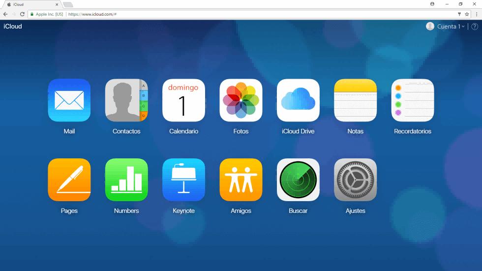 Acceso Buscar mi iPhone en iCloud