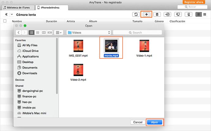 Importar vídeos a iPhone con AnyTrans - Paso 2