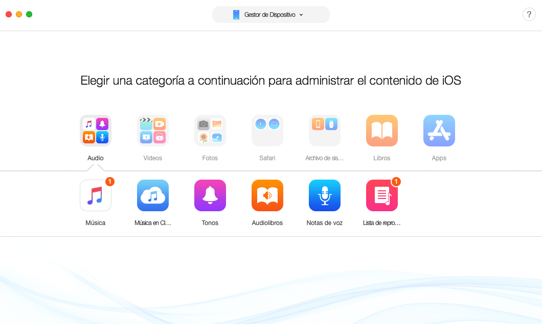 La mejor alternativa a iTunes - AnyTrans para iOS