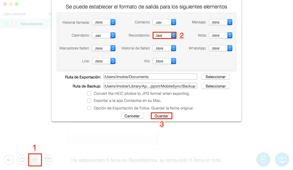 Cómo imprimir desde el iPhone Recordatorios 6 / 6s(Plus)- Paso 4