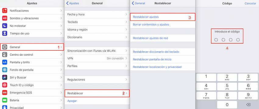 Restablecer tu dispositivo iOS