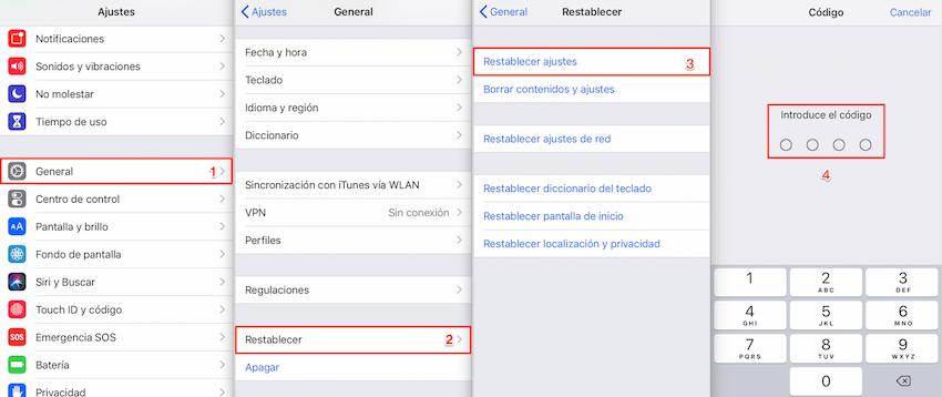 Restablecer todas ajustes - iOS 13 Consumo anormal de batería