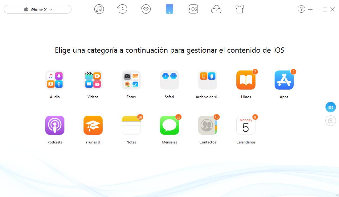 Cómo hacer copia de seguridad del iPhone con AnyTrans para iOS