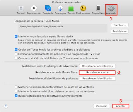Recuperar iTunes Store no funciona en ordenador