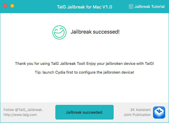 Jailbreak iOS 10/11.1/11.2 con TaiG