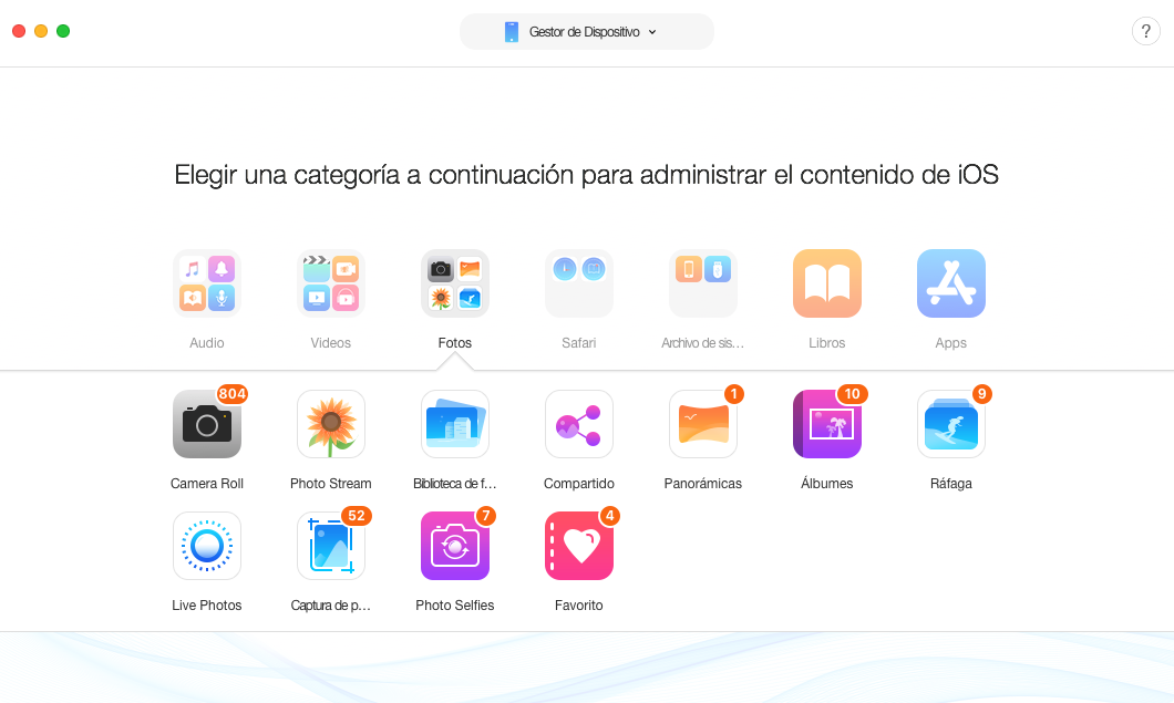 Mejor iExplorer iOS Alternativa - AnyTrans para iOS