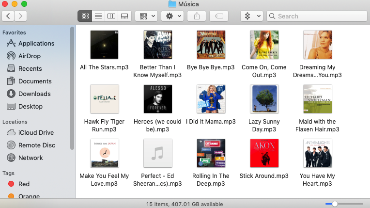 Las canciones ya están en tu Mac