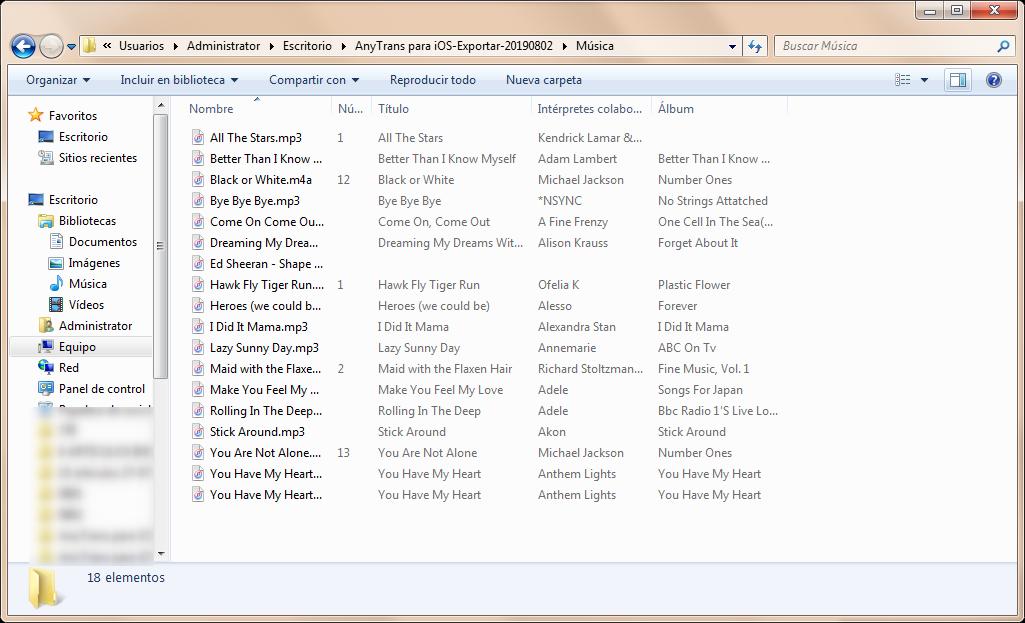 Ya las canciones están en tu PC