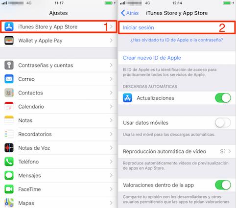 Porqué no puedo descargar Apps en mi iPhone - Cerrar sesión en la App Store