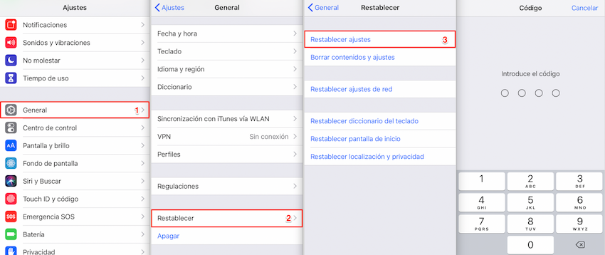 Porqué no puedo descargar Apps en mi iPhone - Restablecer ajustes