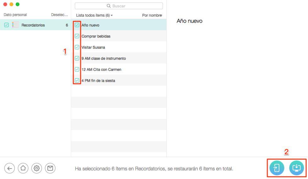 Cómo imprimir desde el iPhone Recordatorios 6 / 6s (Plus) - Paso 5