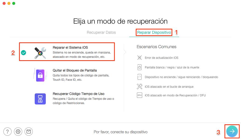 Restaura tu iPhone con PhoneRescue para iOS