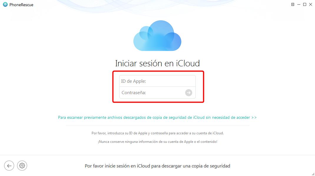 Recuperar fotos de iCloud fácilmente - Paso 2